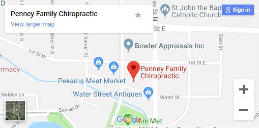 Map of Jordan MN Chiropractors 1